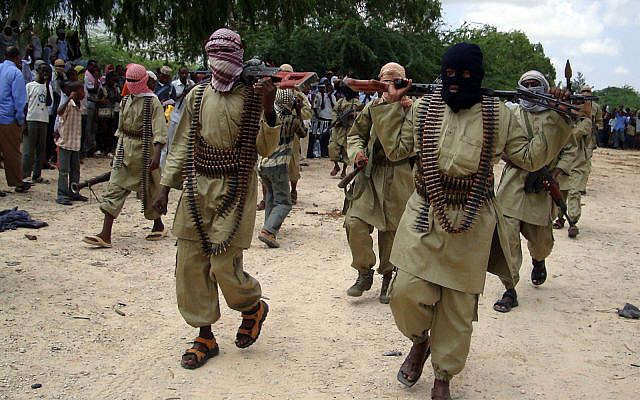 Al-Shabaab terrorists in Mogadishu, Somalia, October 30, 2009. (AP Photo/Mohamed Sheikh Nor)