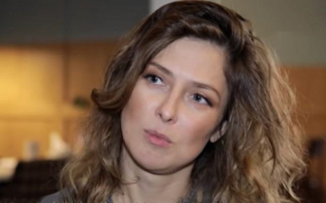 Russian journalist Yulia Yuzik, arrested in Tehran in October 2019. (YouTube screenshot)