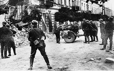 Illustrative: German soldiers in Warsaw during the Nazi invasion of Poland, September 1939. (AP Photo)