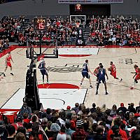 The Portland Trail Blazers play against  the Denver Nuggets in a preseason game in Portland, Oregon, Oct. 8, 2019. (AP Photo/Craig Mitchelldyer)