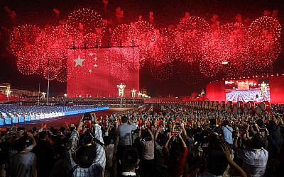 China holds 70th anniversary celebrations in Beijing's Tiananmen Square marking the founding of the People's Republic of China, October 1, 2019. (AP Photo/Ng Han Guan)