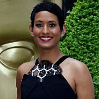 BBC presenter Naga Munchetty poses for photographers upon arrival at the British Academy Television and Craft Awards in east London, April 23, 2017. (Joel Ryan/Invision/AP, file)