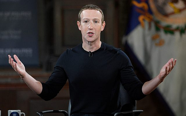 Facebook CEO Mark Zuckerberg speaks at Georgetown University, October 17, 2019, in Washington. (AP Photo/Nick Wass)