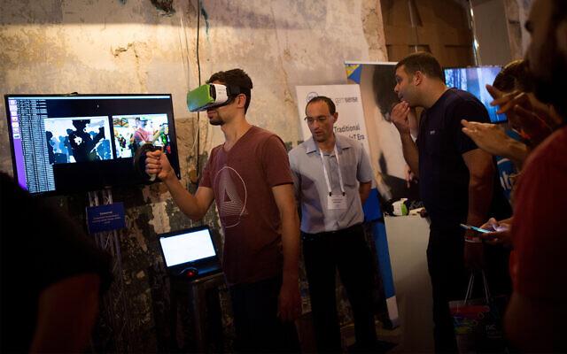 Illustrative: The DLD Tel Aviv tech conference, Israel's largest international tech and startup gathering, Tel Aviv, September 27, 2016. (Miriam Alster/FLASH90)