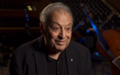 Zubin Mehta speaks to Channel 12 in an interview that aired October 25, 2019 (screenshot)