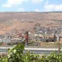 A view of the Galilee Arab town of Majd al-Krum (YouTube screenshot)