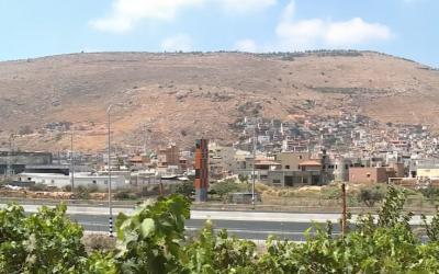 A view of the Galilee Arab town of Majd al-Krum (YouTube screenshot)