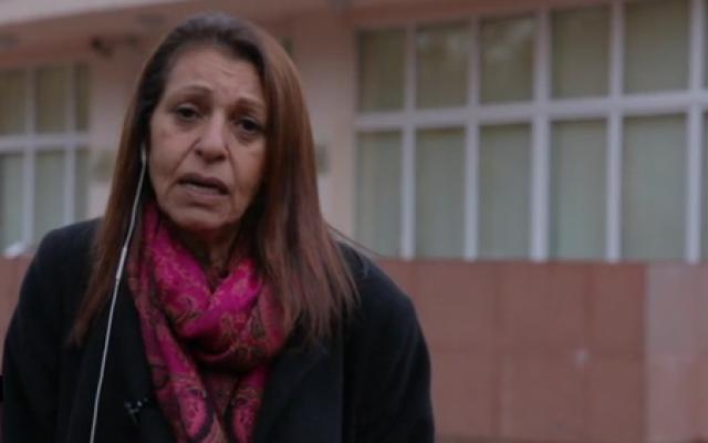 Yaffa Issachar speaks to Channel 12 news, October 11, 2019 (Channel 12 screenshot)