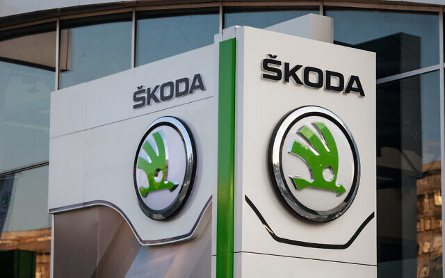 Picture of the ŠKODA sign at a car dealership in New Belgrade (BalkansCat; iStock by Getty Images)