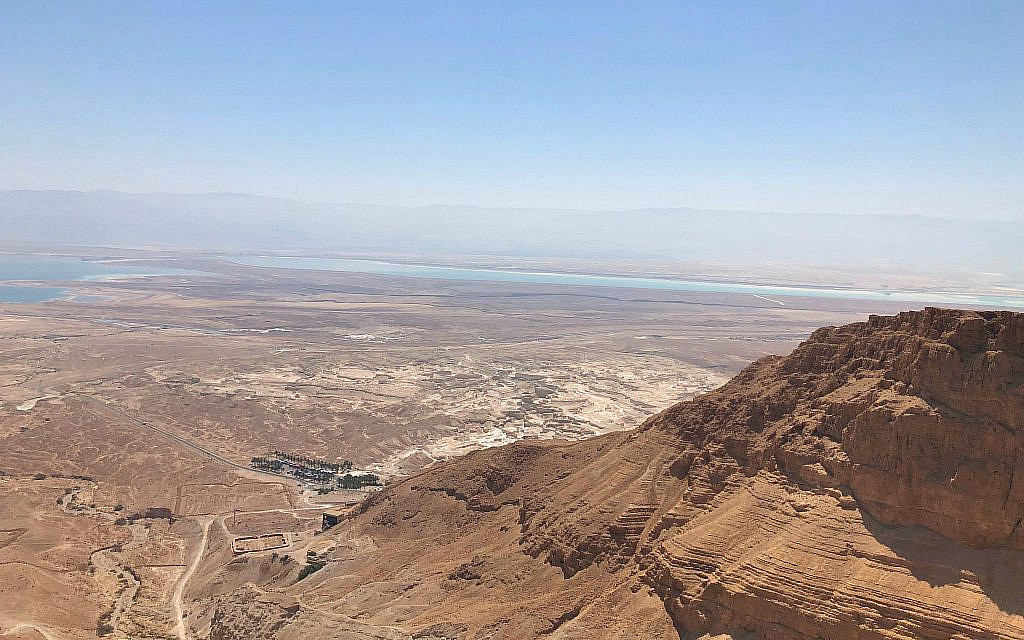 View from Masada, July 11, 2019. (Amanda Borschel-Dan/Times of Israel)