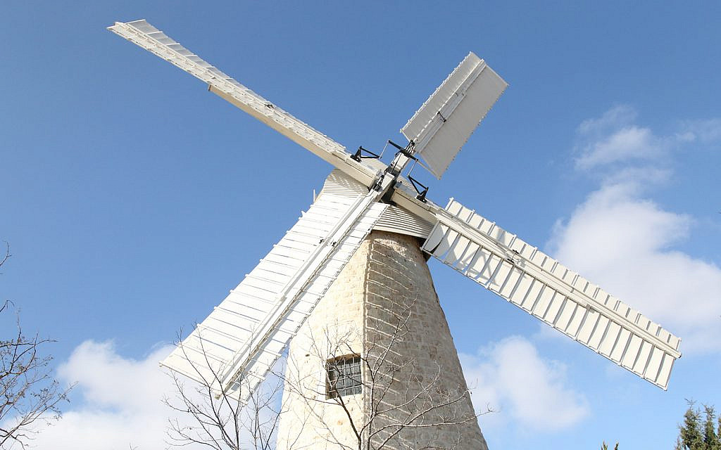 The Mishkenot Sha'ananim windmill was restored several years ago and was modeled on a structure in Britain. (Shmuel Bar-Am)