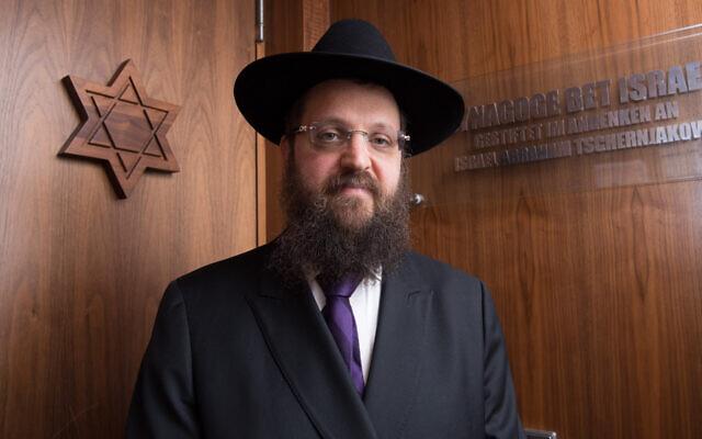 Rabbi Yehuda Teichtal in August 2019. (Photo Jorg Carstensen/picture alliance via Getty Images via JTA)