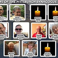 The victims of the Pittsburgh synagogue shooting. (Facebook/Google Maps/JTA Collage)