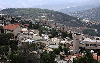 The view from the ancient citadel in Safed, northern Israel. (Shmuel Bar-Am)