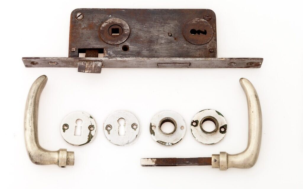 From washers to door handles, German-made construction materials were imported to pre-state Palestine as part of transfer agreement payments (Courtesy Yael Schmidt)