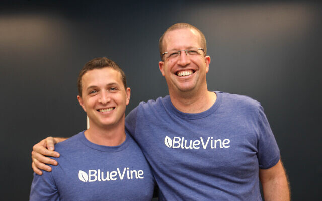 Nir Klar, co-founder and chief technology officer of BlueVine, right, and Eyal Lifshitz, CEO and co-founder  (Courtesy)