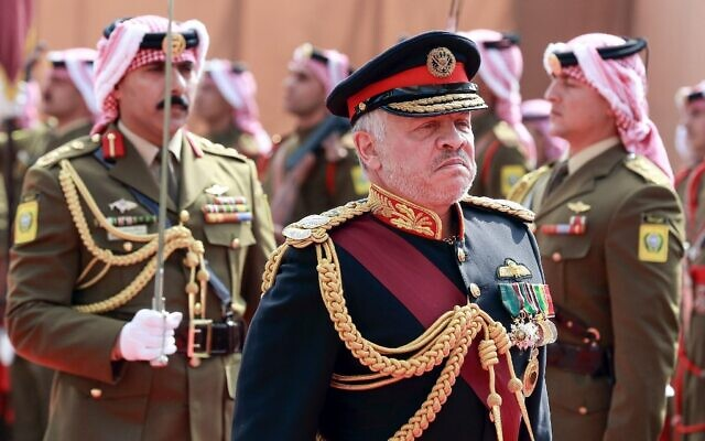 Jordan's King Abdullah II arrives for the opening parliamentary session in the capital Amman on November 10, 2019. (Khalil Mazraawi/AFP)