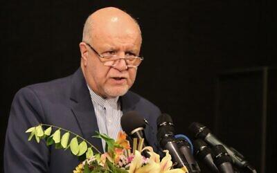 Iran's Oil Minister Bijan Namdar Zanganeh speaks during a press conference in Tehran on November 11, 2019. (Atta Kenare/AFP)