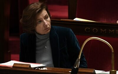 French Defense Minister Florence Parly at the French National Assembly in Paris, November 19, 2019. (Philippe Lopez/AFP)