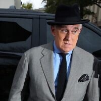 Roger Stone, the former adviser to President Donald Trump, arrives on the second week of his trial at the E. Barrett Prettyman United States Courthouse on November 12, 2019 in Washington, DC. (Mark Wilson/Getty Images/AFP)