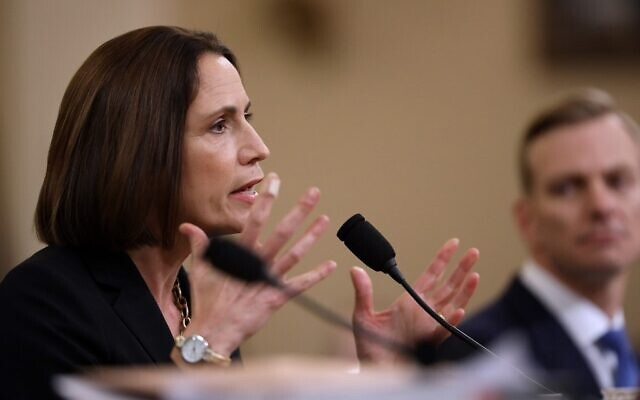Fiona Hill, the National Security Councils former senior director for Europe and Russia testifies before the House Intelligence Committee in the Longworth House Office Building on Capitol Hill November 21, 2019 in Washington, DC.   (Drew Angerer/Getty Images/AFP)
