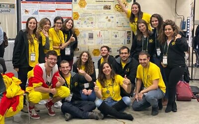 The Technion team at the iGEM competition in Boston held by The Massachusetts Institute of Technology (MIT) (Technion Spokesperson Office)