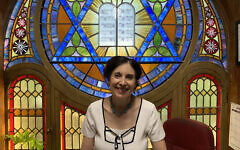 Rabbi Jill Hausman converted the sanctuary of the Actors' Temple into a space that she rents out for off-Broadway performances. (Josefin Dolsten)