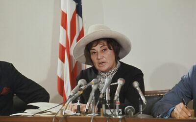 Congresswoman and women rights activist Bella S. Abzug. (Bettmann/Getty Images/via JTA)