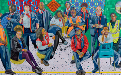 'London Underground: Brixton Station and Victoria Line Staff,' 2019. (Courtesy of the artist and Art on the Underground, London; Anton Kern Gallery, New York/© Aliza Nisenbaum)