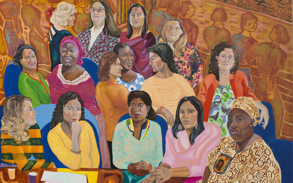 'MOIA's (Mayor's Office of Immigrant Affairs) NYC Women's Cabinet,' 2016. (Courtesy of the artist and Anton Kern Gallery, New York/© Aliza Nisenbaum)