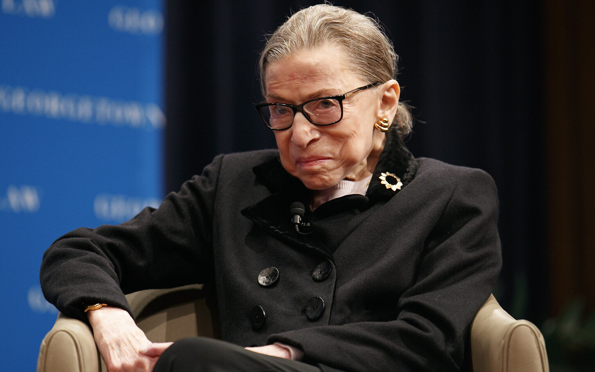 US Supreme Court Judge Ruth Bader Ginsburg in hospital with infection