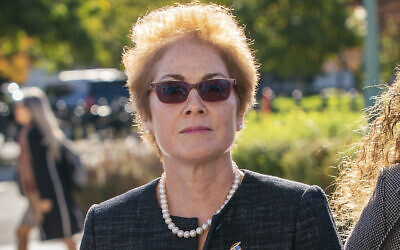 In this October 11, 2019, file photo, former US ambassador to Ukraine Marie Yovanovitch arrives on Capitol Hill in Washington. (AP Photo/J. Scott Applewhite, File)