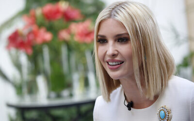 Ivanka Trump, the daughter and senior adviser to U.S. President Donald Trump, is interviewed by the Associated Press, November 8, 2019, in Rabat, Morocco. (AP Photo/Jacquelyn Martin)