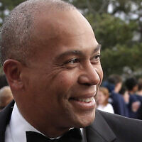In this May 7, 2017 file photo, former Massachusetts Gov. Deval Patrick arrives at the John F. Kennedy Presidential Library and Museum in Boston for the 2017 Profile in Courage award ceremony. (AP Photo/Steven Senne, File)