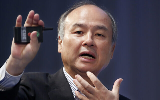 SoftBank Group Corp. CEO Masayoshi Son speaks during a SoftBank World presentation at a hotel in Tokyo, Japan, July 20, 2017. (AP Photo/Shizuo Kambayashi, File)