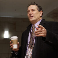 Rep.-elect Andy Levin, D-Mich, arrives for member-elect briefings on Capitol Hill in Washington, Thursday, Nov. 15, 2018. (AP Photo/Carolyn Kaster)
