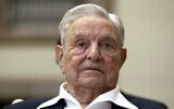 George Soros at the Joseph A. Schumpeter award ceremony in Vienna, Austria, June 21, 2019. (AP Photo/ Ronald Zak)