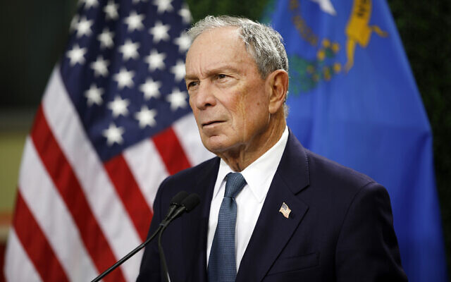 In this Feb. 26, 2019, file photo, former New York City Mayor Michael Bloomberg speaks at a news conference at a gun control advocacy event in Las Vegas.  (AP Photo/John Locher, )