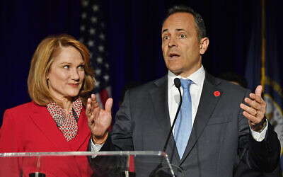 Democrat claims Kentucky governor race victory, party wins Virginia statehouse