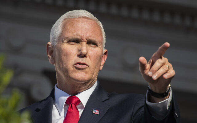 Vice President Mike Pence speaks during the 66th annual National Veterans Day observance at Arlington National Cemetery, in Arlington, Va., Monday, Nov. 11, 2019. (AP Photo/Manuel Balce Ceneta)