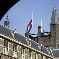 File: The Binnenhof, the seat of the Dutch government, in The Hague, Netherlands, in 2014 (AP Photo/Phil Nijhuis)