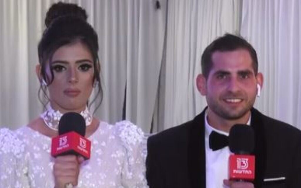 For some Israeli couples, Gaza rocket fire rains on their wedding day