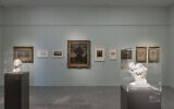 A look at the gallery where the Gurlitt exhibit, 'Fateful Choices: Art from the Gurlitt Trove,' is housed until January 15, 2020 (Courtesy Elie Posner/Israel Museum)
