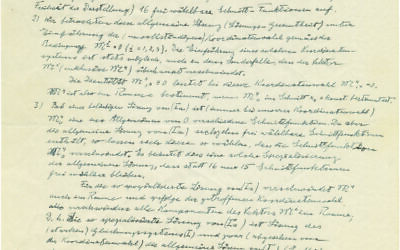 A handwritten and signed letter by Jewish-German physicist Albert Einstein, from June 1950, discussing his work on unified field theory, to be offered for auction by the Kedem Auction House, 2019. (Courtesy: Kedem Auction House)