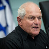 File: Haim Katz speaks at the Knesset ent on March 5, 2018 (Yonatan Sindel/Flash90)