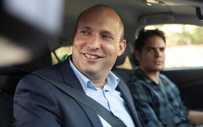 New Right MK Naftali Bennett arrives at the Prime Minister's Office in Jerusalem on September 18, 2019. (Yonatan Sindel/Flash90)