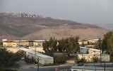 View of the settlement of Yitzhar, in the West Bank on October 31, 2019. (Sraya Diamant/Flash90)