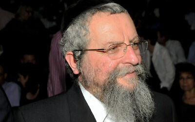 File: Rabbi Avraham Elimelech Firer, chairman and founder of the Ezra Lemarpe medical support organization, attends an event in Tel Aviv on November 10, 2010. (Yossi Zeliger/Flash90)