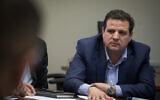 Joint List chair MK Ayman Odeh speaks during a faction meeting at the Knesset on November 18, 2019. (Hadas Parush/Flash90)