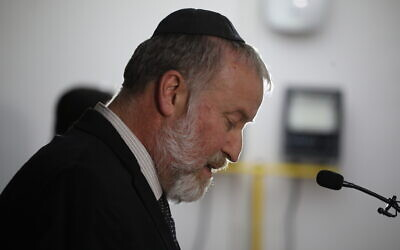 Attorney General Avichai Mandelblit announces his decision to indict Prime Minister Benjamin Netanyahu on charges of bribery, fraud and breach of trust in three corruption cases, on November 21, 2019. (Hadas Parush/FLASH90)